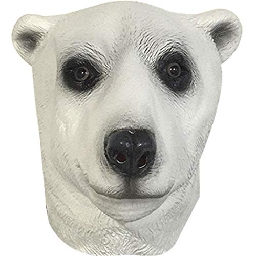 QIAO Halloween Props Animal Mask Decoration Polar Bear Mask Cosplay Party Tidy Latex Props Masquerade Headgear (Color : A) -