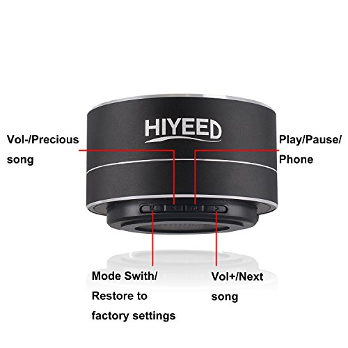 Hiyeed Bluetooth Speakers Portable Wireless Remote Mini