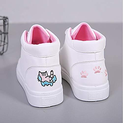 US7 Comoda Rosa Donna Scarpe Autunno Poliuretano PU UK5 Bianco Piatto Per Sneakers TTSHOES Blu 5 EU37 Pink CN37 YgAPWqOS