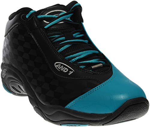 AND1 Mens Tai Chi Mid Basketball Athletic Shoes, Black;Blue, 8