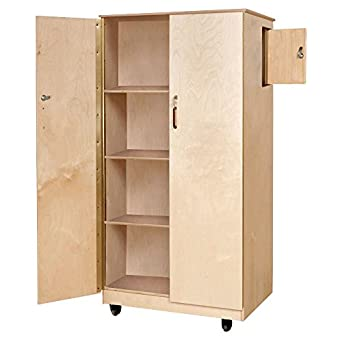 Wood Designs Mobile Teachers Lockitup Cabinet Storage Cabinets