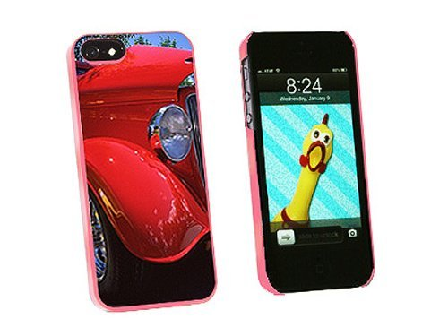 Graphics and More Red Classic Car Snap-On Hard Protective Case for iPhone 5/5s - Non-Retail Packaging - Pink