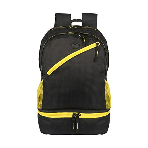 Lightweight Backpack for School Travel Bag with Waterproof Rain Cover Casual Laptop Backpack Bookbags for Teen (Yellow) -