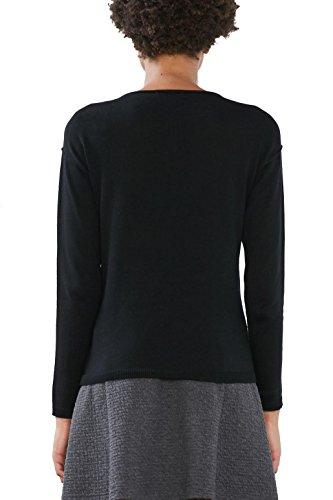 edc by Esprit 126cc1i015, Suéter para Mujer Negro (black 001)
