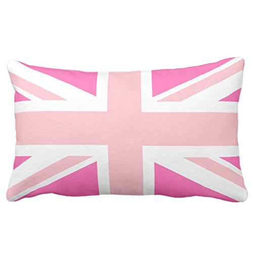 Zazzle Hot Pink Union Jack Lumbar Pillow 13