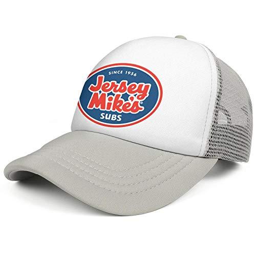 (NAWEIOU Women Men hat Jersey Mike's Logo Adjustable Swimming Cap Mesh Flatbrim Comfortable Breathable hat)
