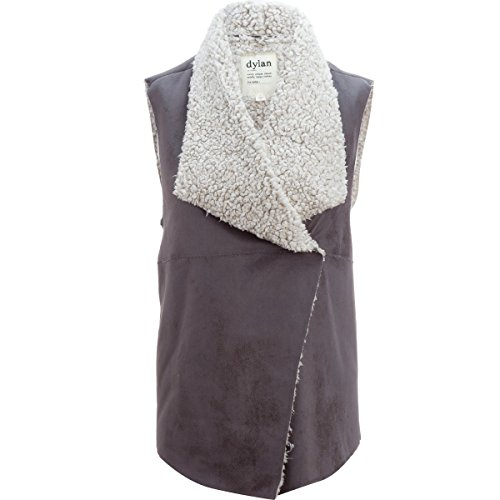Dylan Frosty Tipped Shearling Snap Vest - Women's Soft Black, XL by Dylan