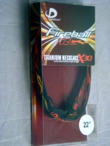 Phiten 30X Fireball Titanium Necklace, 22