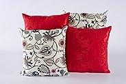 Kit Com 04 Capas Para Almofadas Decorativas Coloridas Estampadas Modelo 264