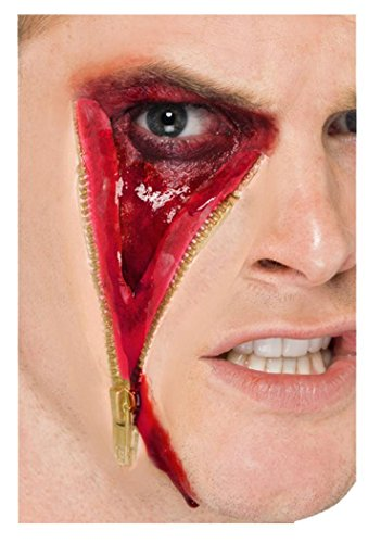 Unisex Cosmetics & Disguises Special Effect Wounds/blood Zip Face Scar (Zip Makeup Halloween)