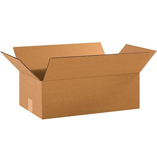 """BOX USA B18106 Corrugated Boxes, 18"""" x 10"""" x 6"""", Kraft"""