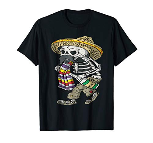 Mexican skeleton Tshirt viva mexico Mariachi Skeleton Shirt]()