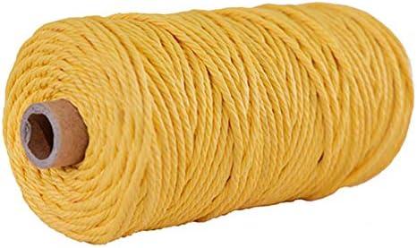 Qian Ya Cuerda de macramé 3 mm, Cuerda de macramé de algodón para Colgar Plantas, Colgar en la Pared, Manualidades: Amazon.es: Jardín