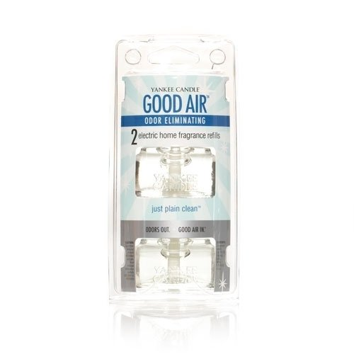 Yankee Candle Just Plain Clean Good Air Electric Home Fragrance Refill (2-Pack), Fresh Scent