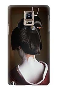 E1337 Japan Geisha Neck Funda Carcasa Case para Samsung Galaxy Note 4