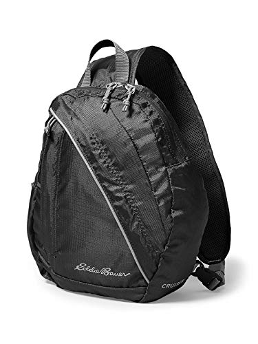 (Eddie Bauer Unisex-Adult Stowaway 10L Packable Sling Bag, Black Regular ONESZE)