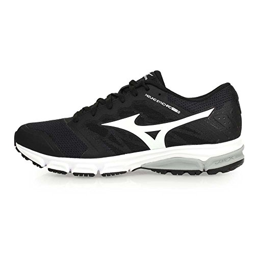 Mizuno Synchro Md, Zapatillas de Running para Hombre, Negro Multicolor (Black/white/griffin)
