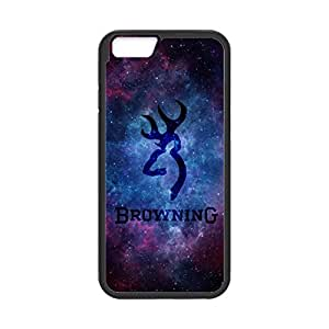 Browning Deer Camo Nebula Pattern for iPhone 6 Case Cover 038695 Rubber Sides Shockproof Protection with Laser Technology Printing Matte Result