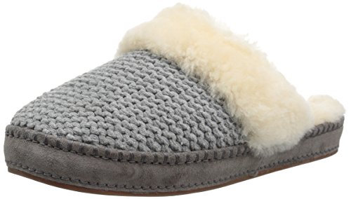 UGG Women's Aira Knit Slip on Slipper, Grey, 9 M US by UGG