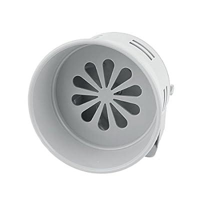 uxcell MS-290 Gray Plastic Industrial Alarm Sound Motor Siren 130dB DC 24V