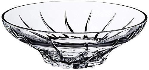 Le'raze Attractive Large Crystal Round Serving Bowl, Beautiful European Design Centerpiece Dish, Elegant Multipurpose Salad bowl, Fruit Server. ()