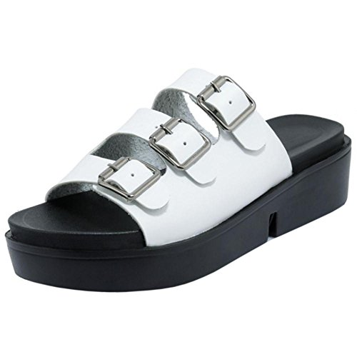 Mules TAOFFEN Sandals TAOFFEN White Shoes Sandals Womens Shoes White Casual Womens Mules Casual Womens Casual TAOFFEN qCSwgqT