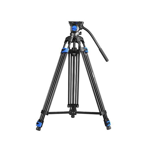 RetinaPix DIGITEK (DPTR-610VD) (193 cm) Heavy Duty Video Tripod with 3 Way Adjustable Pan Head