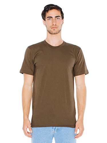 American Apparel Men Fine Jersey Crewneck T-Shirt Size for sale  Delivered anywhere in USA
