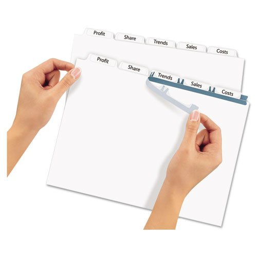 Avery - Index Maker Clear Label Dividers, 5-Tab, Letter, White, 5 Sets/Pack 11436 (DMi PK