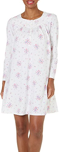 Aria Brushed Cotton Jersey Short Nightgown (8017761) XL/Ivory Multi (Brushed Jersey Sleepwear)