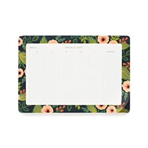 Rifle Paper Co. Jardin Weekly Desk Planner Notepad