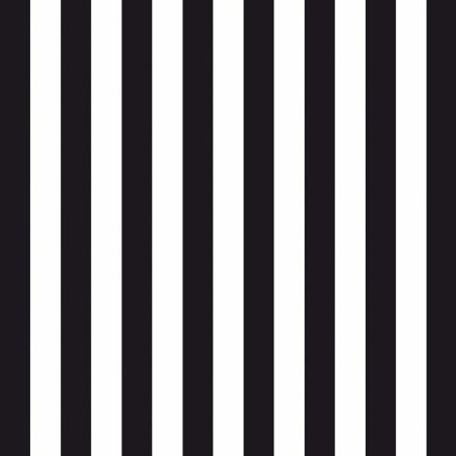 (Narrow Black and White Stripes Luncheon Paper Napkins)