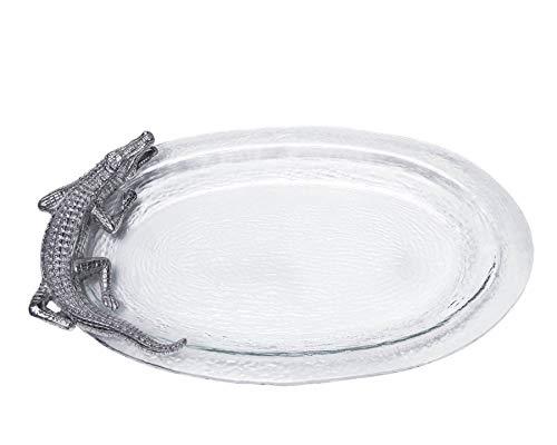 Arthur Court Designs Alligator Glass Platter 20