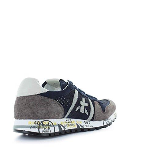 PREMIATA Zapatos de Hombre Zapatilla Eric 3138 Azul Gris Primavera Verano 2018