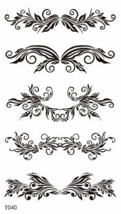 GGSELL GGSELL new release temporary tattoos stickers for women and girls,one paper tattoo including different flower vines design