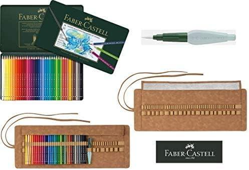 Faber Castell - Lápices de acuarela A.Dürer (36 unidades, estuche de metal, pincel de agua, pincel para lápices Art & Graphic): Amazon.es: Oficina y papelería