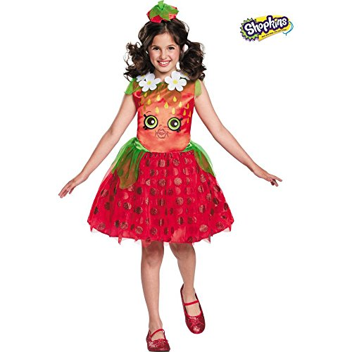 [Disguise Shopkins Strawberry Classic Costume, One Color, Small/4-6] (Strawberry Costume)