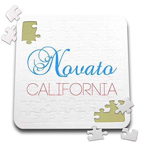 3dRose Alexis Design - American Cities California - Novato, California, red, Blue Text. Patriotic Home Town Design - 10x10 Inch Puzzle (pzl_302752_2) -