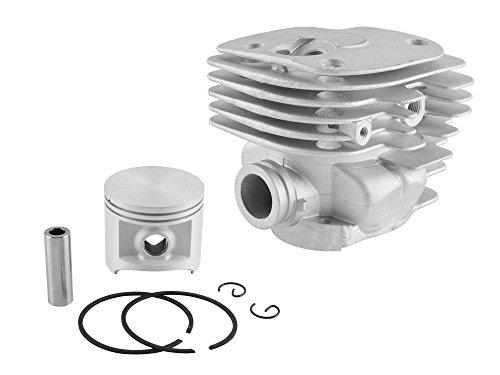 Cylinder and Piston Kit 50mm For Husqvarna 372, Chrome (503 62 64-73, - Ring Piston Chrome
