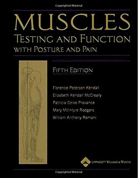 Muscles Testing And Testing And Function With Posture And Pain Kendall Muscles 8601400177501 Medicine Health Science Books Amazon Com