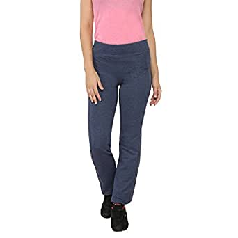 Women's Yoga Casual Pants Cotton-Blend Heather Blue Small