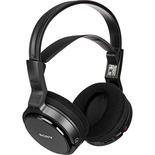(Sony MDR-RF912RK Over-Ear Wireless Radio Frequency Stereo TV Headphone System with 40mm Drivers, Noise Reduction and Long Wireless Range, Black (Non-Retail Packaging))