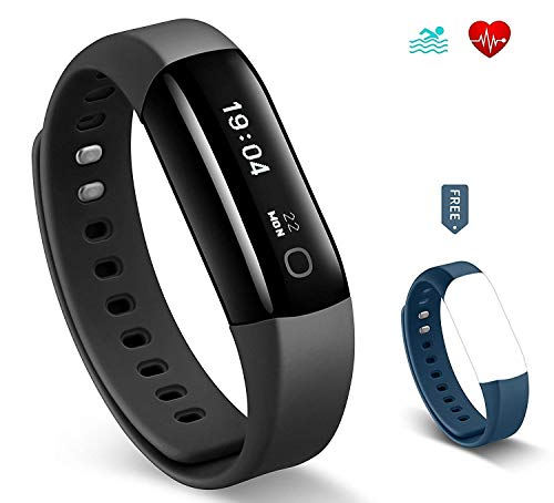 Arbily Fitness Tracker, Activity Tracker Heart Rate Monitor, Swimming Waterproof Fitness Tracker Watch/Step Counter/GPS Tracker/Smart Wristband for Android and iOS