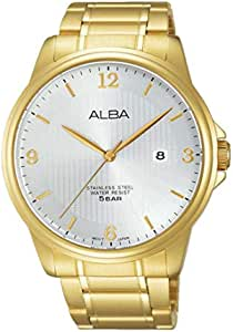 Alba Casual Watch For Unisex Analog Yellow Gold Plated - as9b06x1