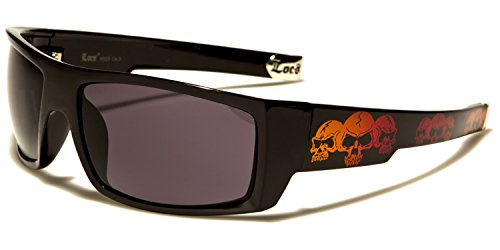 Smoke Black Skull red Homme SDK Lens soleil Lunettes SUNGLASSES Orange de XgAzw