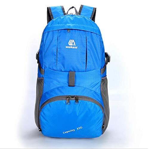 Senderismo Cubierta Blue Viaje Para Dark Camping Floding Montañismo Limeinimukete Mochila Con Lluvia Impermeable Escalada zwqXdOF