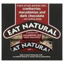 Eat Natural Cranberries Macadamia And Dark Chocolate Bars 3 X 45G by Eat Natural by Eat Natural