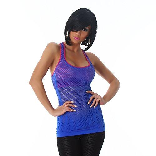 Fashion - Camiseta sin mangas - Básico - Sin mangas - para mujer Azul
