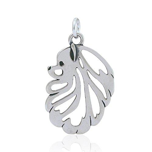 Pomeranian Necklace - Sterling Silver Pomeranian Pendant, Head