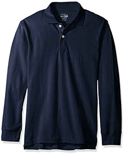 The Children's Place Baby Boys' Long Sleeve Uniform Polo, Nautico, 12-18 Months